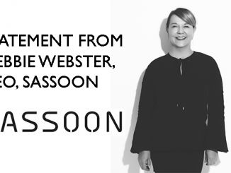 STATEMENT FROM DEBBIE WEBSTER, CEO, SASSOON